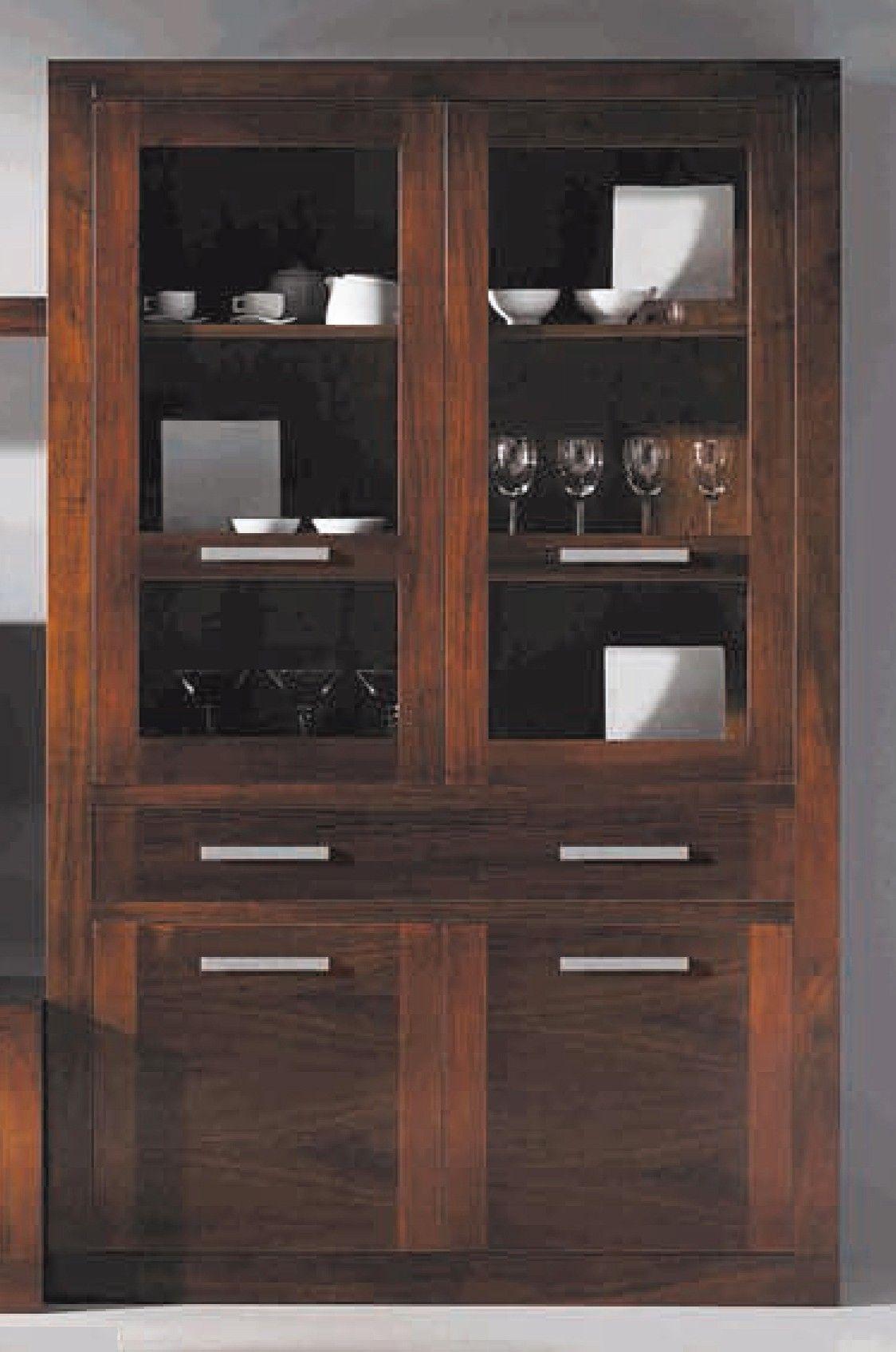 Vitrina Puertas Cristal Madera Nogal R1002_3_1 Jpg 1124 1694  # Muebles Vitrinas Para Comedor