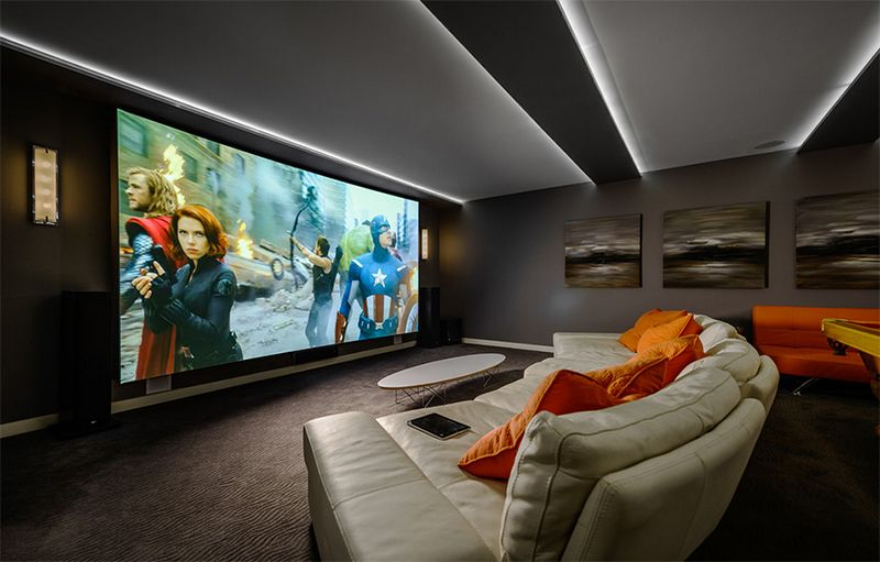 20 Well Designed Contemporary Home Cinema Ideas For The Basement