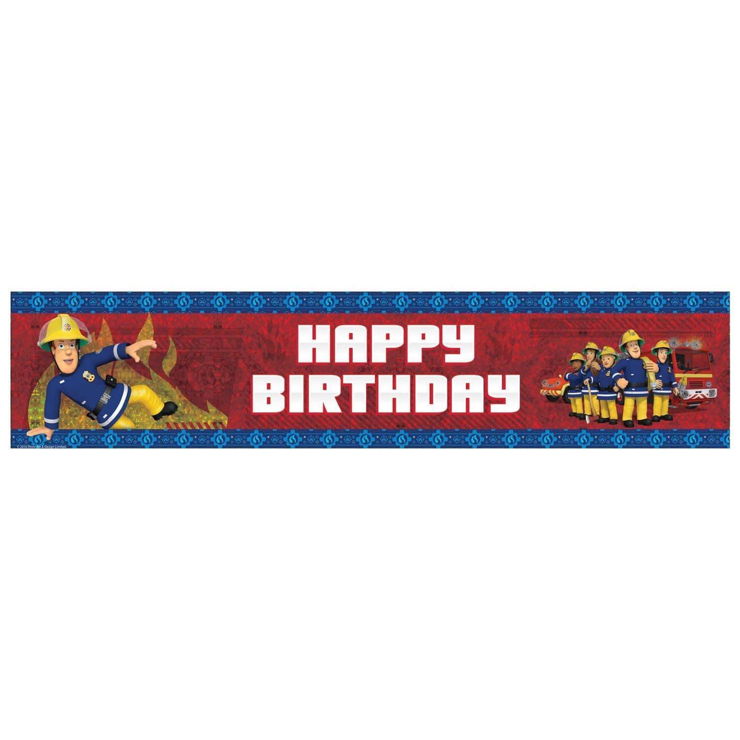 Fireman Sam Happy Birthday Banner Party Decoration Bunting