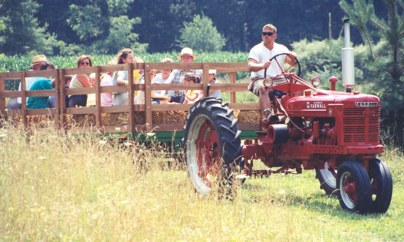 Dad used to always have a hay ride when I would come home ...