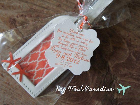 Wedding Favors - Key West Paradise Leather Luggage Tag | Wedding ...
