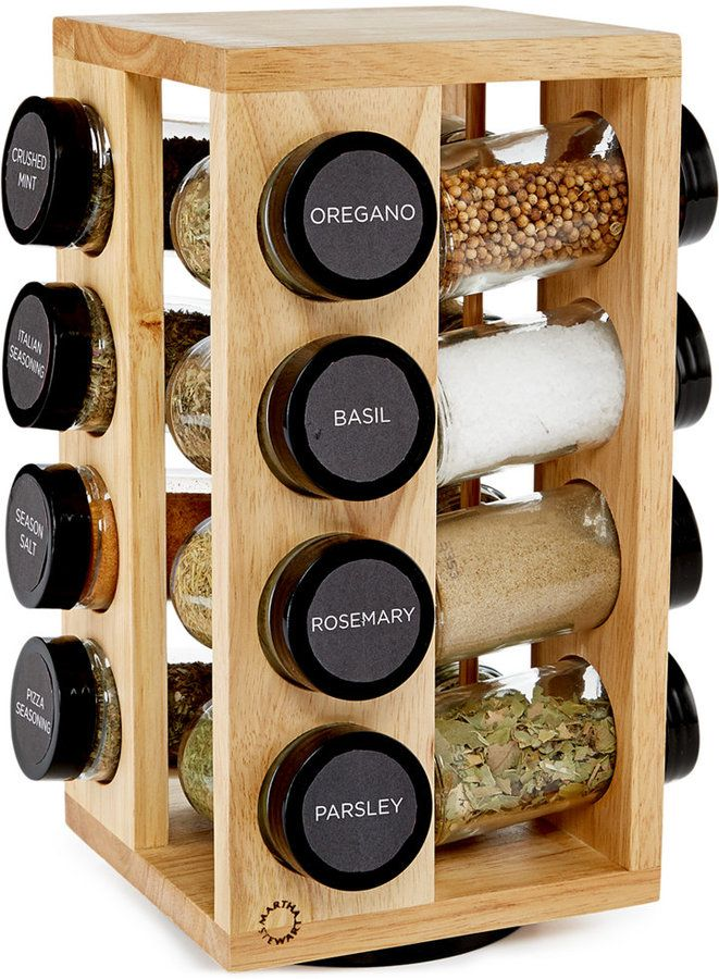 Martha Stewart Collection 17 Pc. Revolving Spice Rack, Created For Macyu0027s