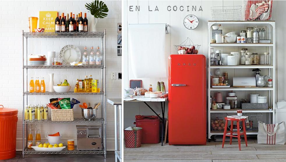 Estanterias metalicas cocina 01 arq kitchen for Estantes para cocina pequena