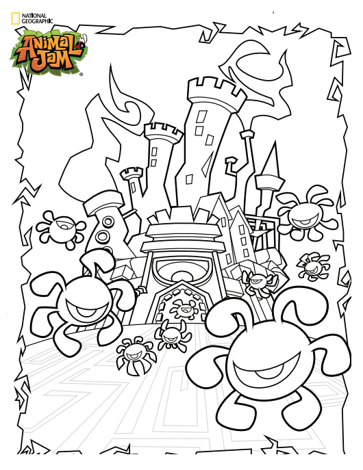 Animal Jam Coloring Pages Animaljam Coloringpages Toys Animal Jam Coloring Pages Free Printable Coloring Pages