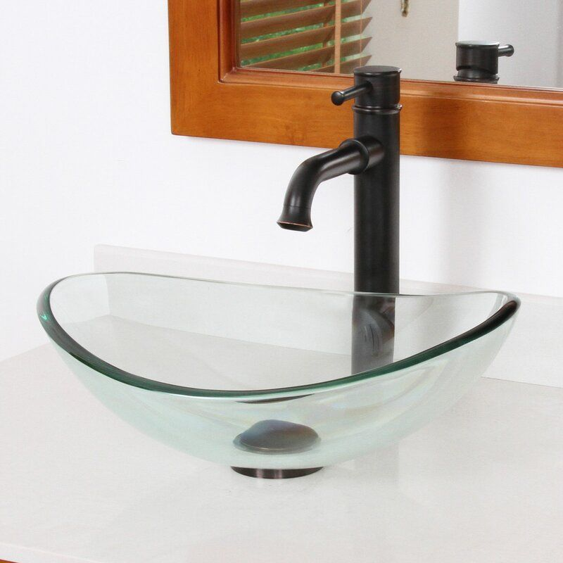 Mini Tempered Glass Oval Vessel Bathroom Sink In 2020 Sink Small Bathroom Sinks Glass Bathroom