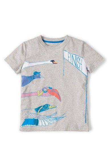 b62dd3439 Mini Boden 'Summer Logo' Cotton Jersey T-Shirt (Toddler Boys, Little Boys &  Big Boys) available at #Nordstrom
