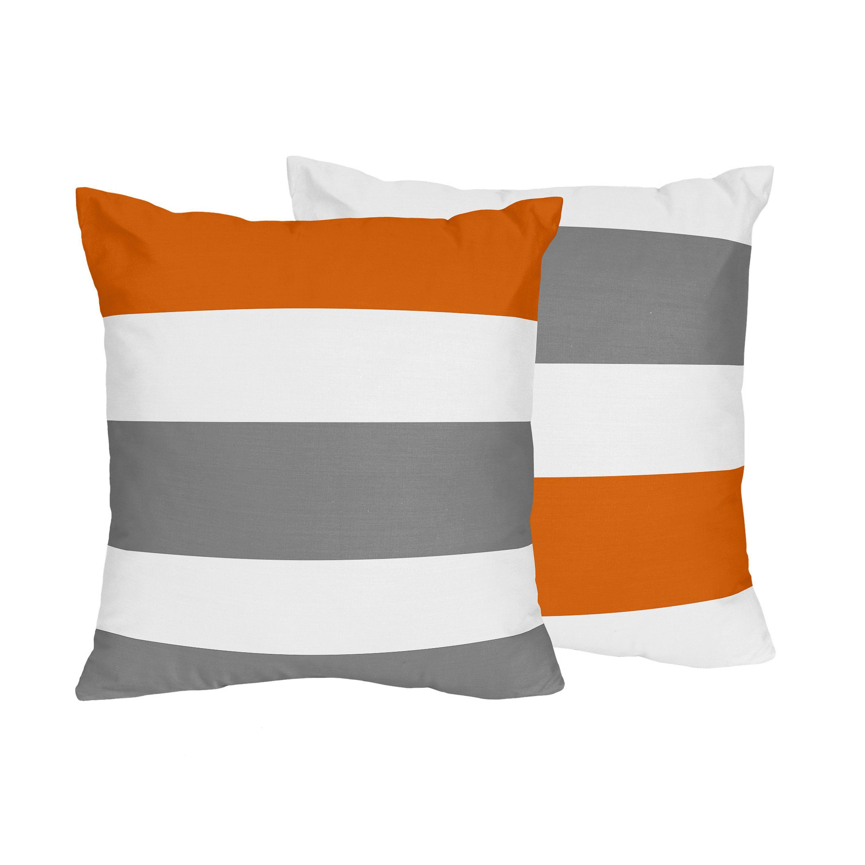 Sweet Jojo Designs Grey and Orange Stripe Collection Microfiber 17 ...