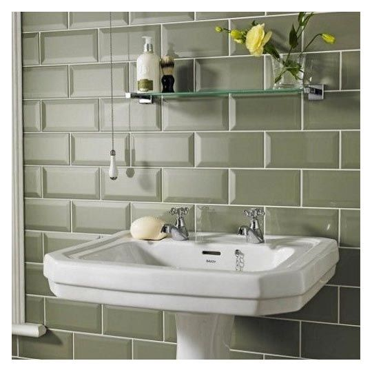Sage Biselado Brillo Bevel Brick 10x20 Cm Kitchen Wall Tile Bathroom Wall Tile Green Subway Tile Kitchen Wall Tiles