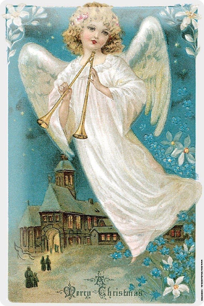 Kerst Engel Kerst Postkaart Vintage Lb Xxx Angels Cherbs Icons