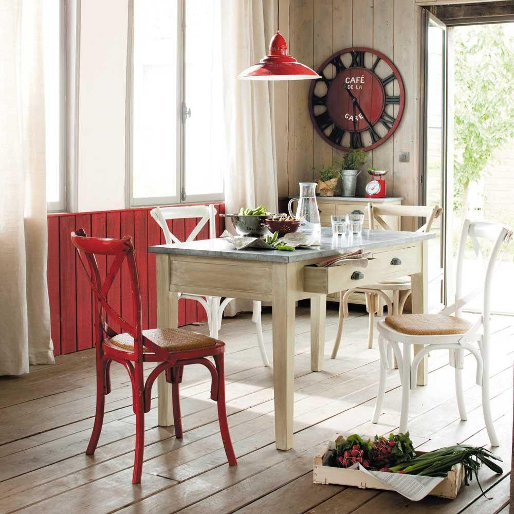 Una silla de cada color maisons du monde ideas cocina for Sedie rosse cucina