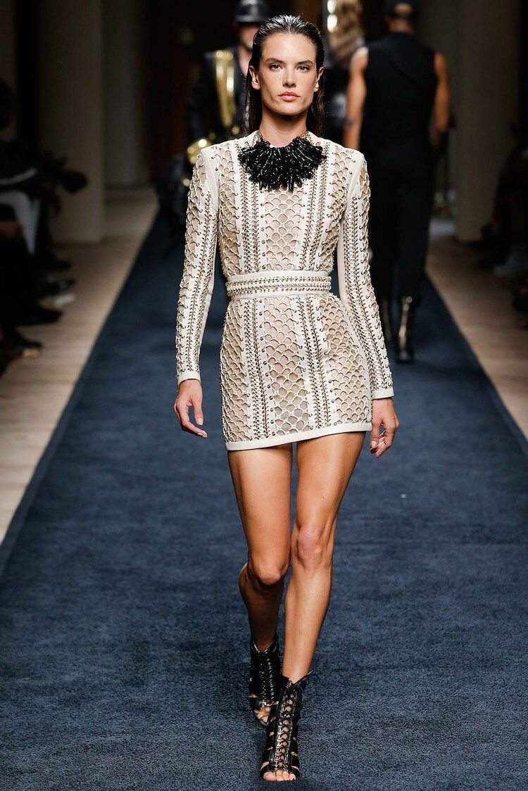 Balmain spring menswear fashion show balmain model photos
