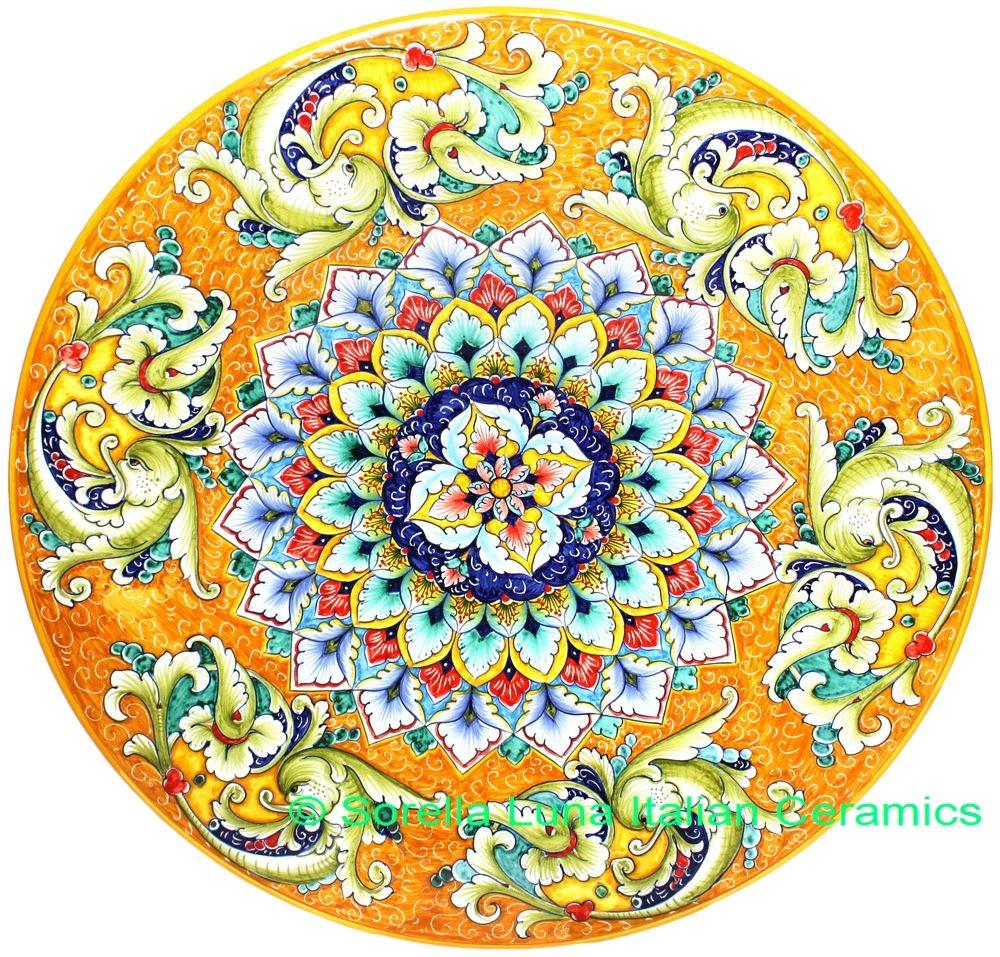 Ceramic-Majolica-Plate-G06-G04-Dolphin-Fish-Orange-52cm-01.jpg 1.000×957 piksel