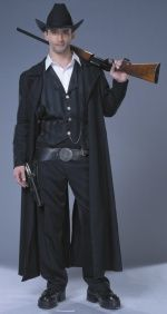Wild West Bounty Hunter Costume Halloween Fancy Dress