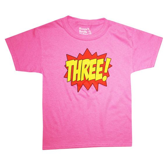POW! BAM! WOW! THREE! This Is A Great Third Birthday T