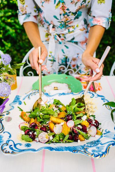 Cherry, Beet & Arugula Salad