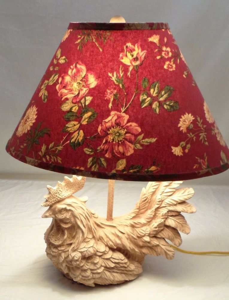 Homestead Shoppe Figural French Provincial Rooster Country Kitchen Table Lamp