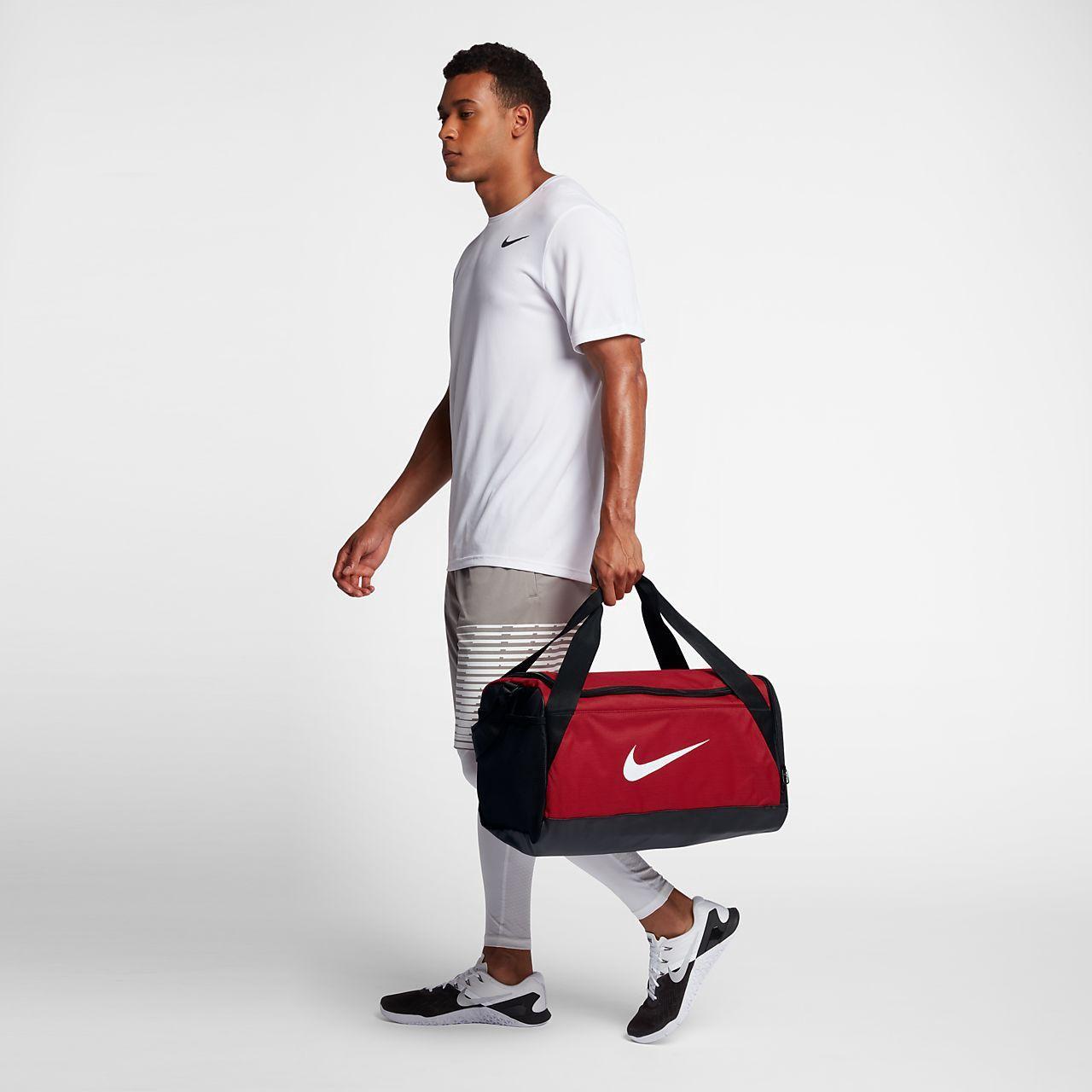 0aa5595fb38e Nike Brasilia (Small) Training Duffel Bag - One Size University  Red Black White