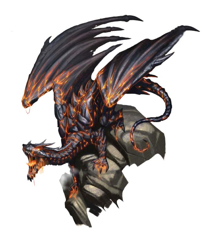 Adult Lava Dragon - Pathfinder PFRPG DND D&D d20 fantasy