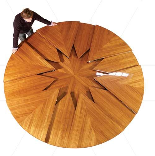 Really Cool Table Just Spin To Expand Watch The Video Expandable Table Capstan Table Expandable Dining Table