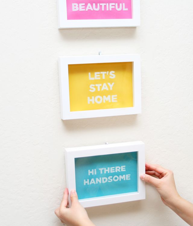 DIY Shadow Box Wall Art | Shadow box, Box and Walls