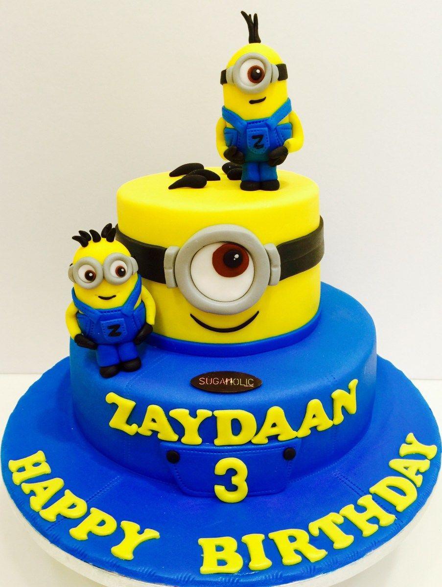 Pleasing Minion Birthday Cake Images 12 Minion Cakes For Boys Photo Minion Personalised Birthday Cards Rectzonderlifede