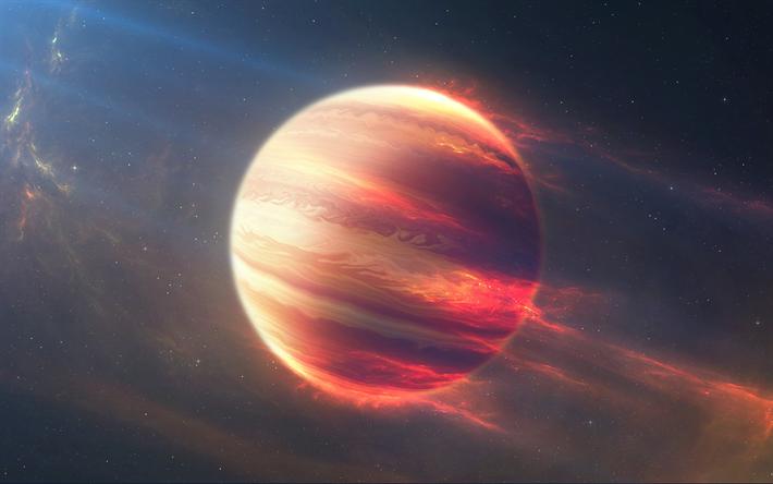 Download Wallpapers Jupiter 4k Planets Galaxy Nebula Sci Fi Universe Besthqwallpapers Com Planets Wallpaper Wallpaper Space Universe Images