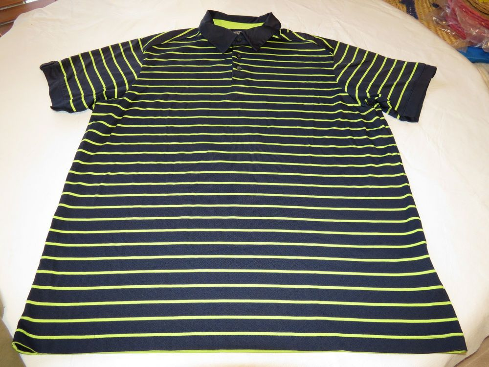 6e9d81fe Adidas Climacool Men's short sleeve polo shirt XL navy green 938005 EUC @  #Adidas #PoloRugby