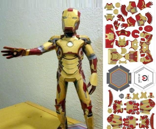 how to make iron man mask out of paper