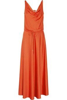 Diane von Furstenberg|Tadd silk-blend jersey maxi dress|NET-A-PORTER.COM - StyleSays