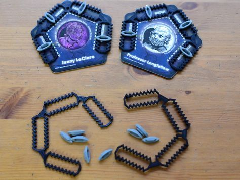 Boardgame character stat markers and holder for Betrayal at House on the Hill by clubclay - Thingiverse