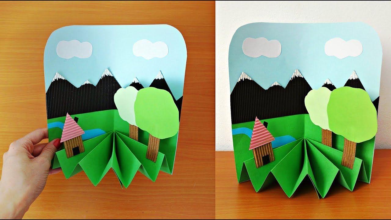 Paper Crafts For Kids Diy 3d Paper Landscape Kids Crafts Ideas Cra Easy Paper Crafts Paper Crafts Family Crafts Diy