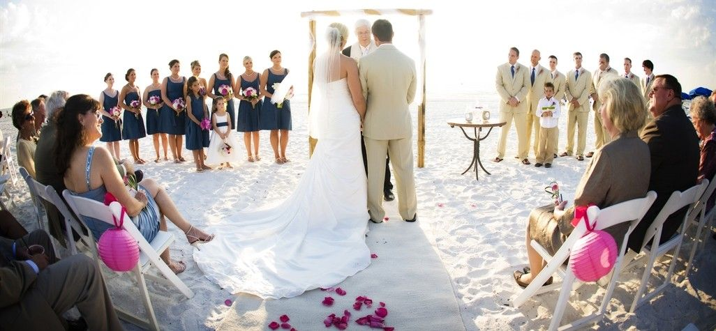 Marco Island Beach Ceremony With Fushia And Navy A Touch Of Lime Photography By Limelight Wedding Planned Styled Jet Set Wed