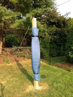 Backyard Zip Line: Zip Line Build Pics: Posts, Chain, Seat,