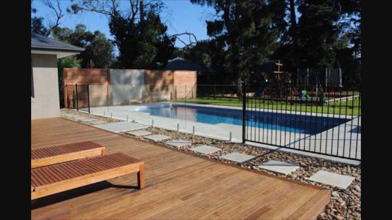 Half Glass Half Railing Fence Pool Pool Glass Fence Pool Fence