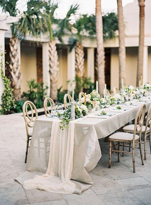 15 Pretty Perfect Wedding Reception Ideas Long Table Weddingtable Cloth
