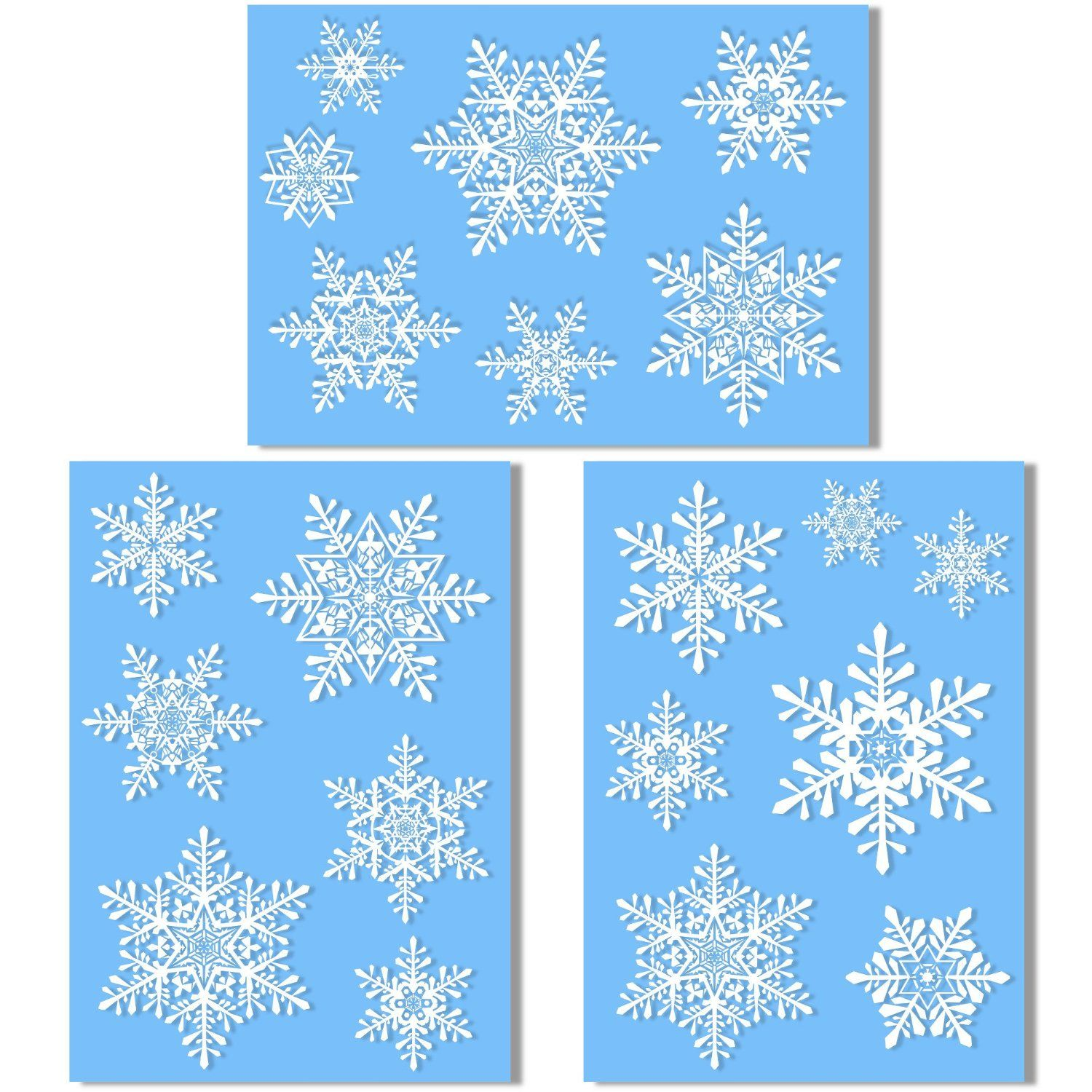 Large Snowflake Window Clings Quick And Simple Christmas - Window stickers amazon uk