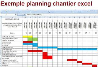 Exemple De Gestion De Planning Chantier Excel PRO