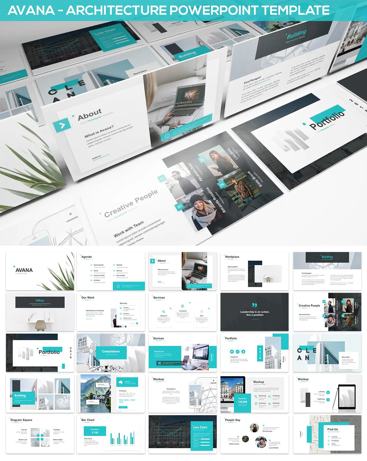 Avana Architecture Powerpoint Template By Slidefactory On Powerpoint Presentation Templates Presentation Templates Presentation Design Template