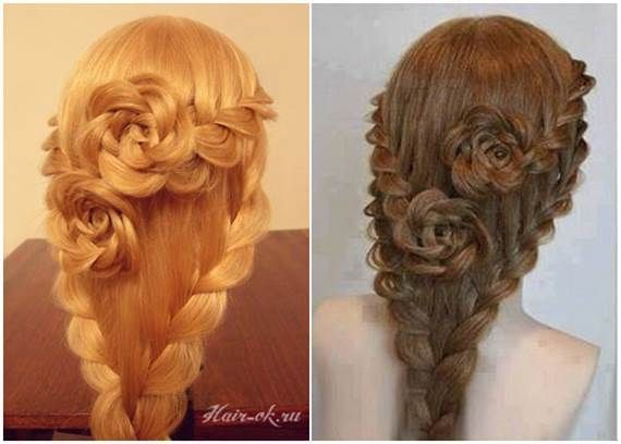 How To DIY Pretty Rose Braids Hairstyle 6
