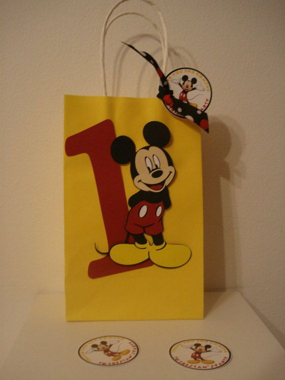 Mickey Mouse Favor Bag by ThePartyGlamBoutique on Etsy, $2.75