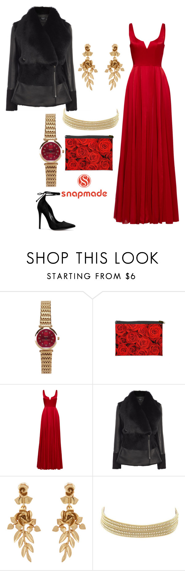 """Rose Red"" by amanda-o-twomey ❤ liked on Polyvore featuring Halston Heritage, Oscar de la Renta and Charlotte Russe"