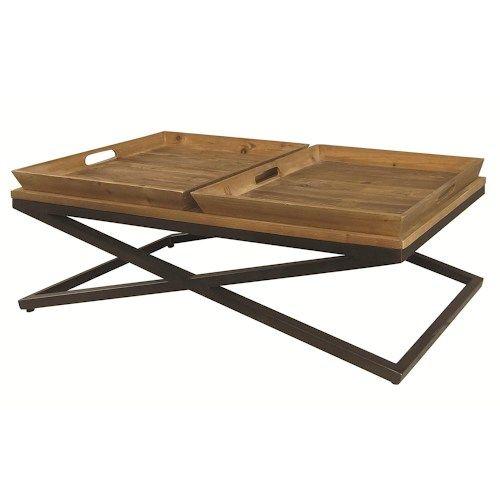 Irondale Jax Wood Metal Coffee Table W Trays By Four Hands Tray Tables Trays And Coffee Tables