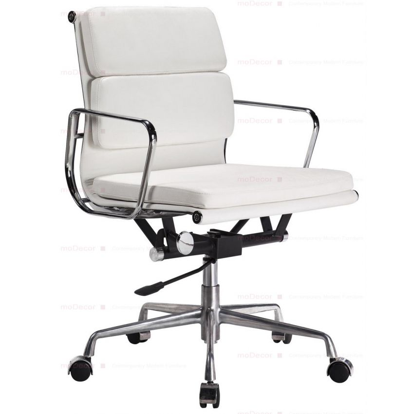 our eames style soft pad office chair in various leather colours is a quality reproduction of the classic original design with deep cushioning for comfort bedroomdivine buy eames style office chairs