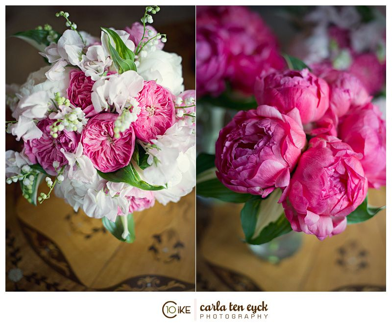 Peonies, Sweet Peas, Garden Roses, Lily Of The Valley