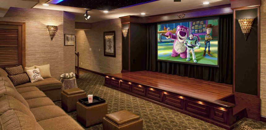 Simple Home Theater Ideas Convert Bedroom To Media Room