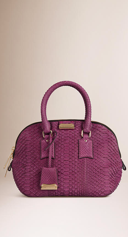 Burberry ♥ Damson magenta The Small Orchard in Nubuck Python  7a4502fc8197c