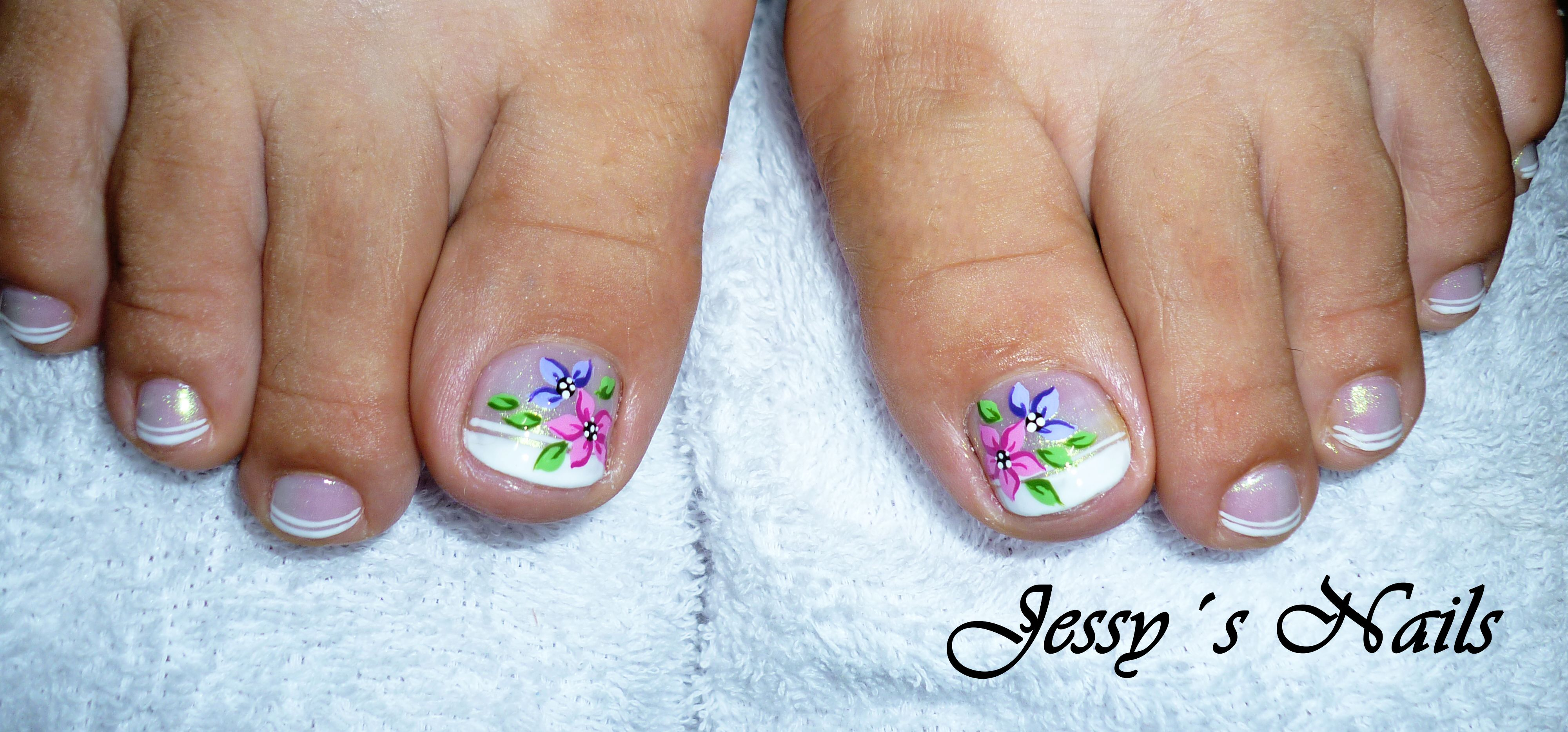 uñas decoradas pies sencillas | NAIL ART | Pinterest | Uñas ...