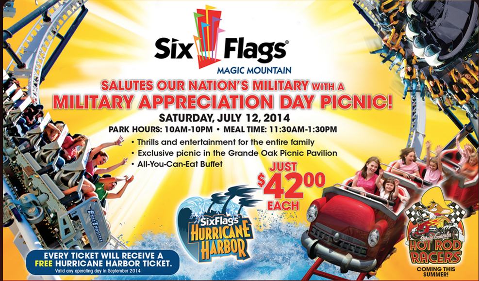 Military Discount Summer Travel Series It S Coming Military Appreciation Day At Six Flags Magic Mount Military Discounts Military Appreciation Summer Travel