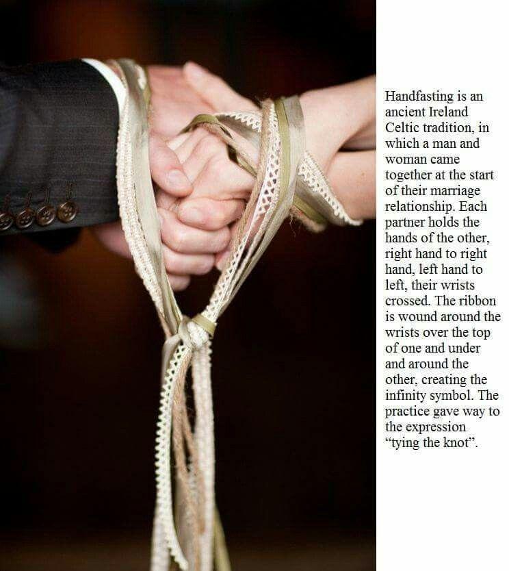 Handfasting celtic wedding tradition irish wedding
