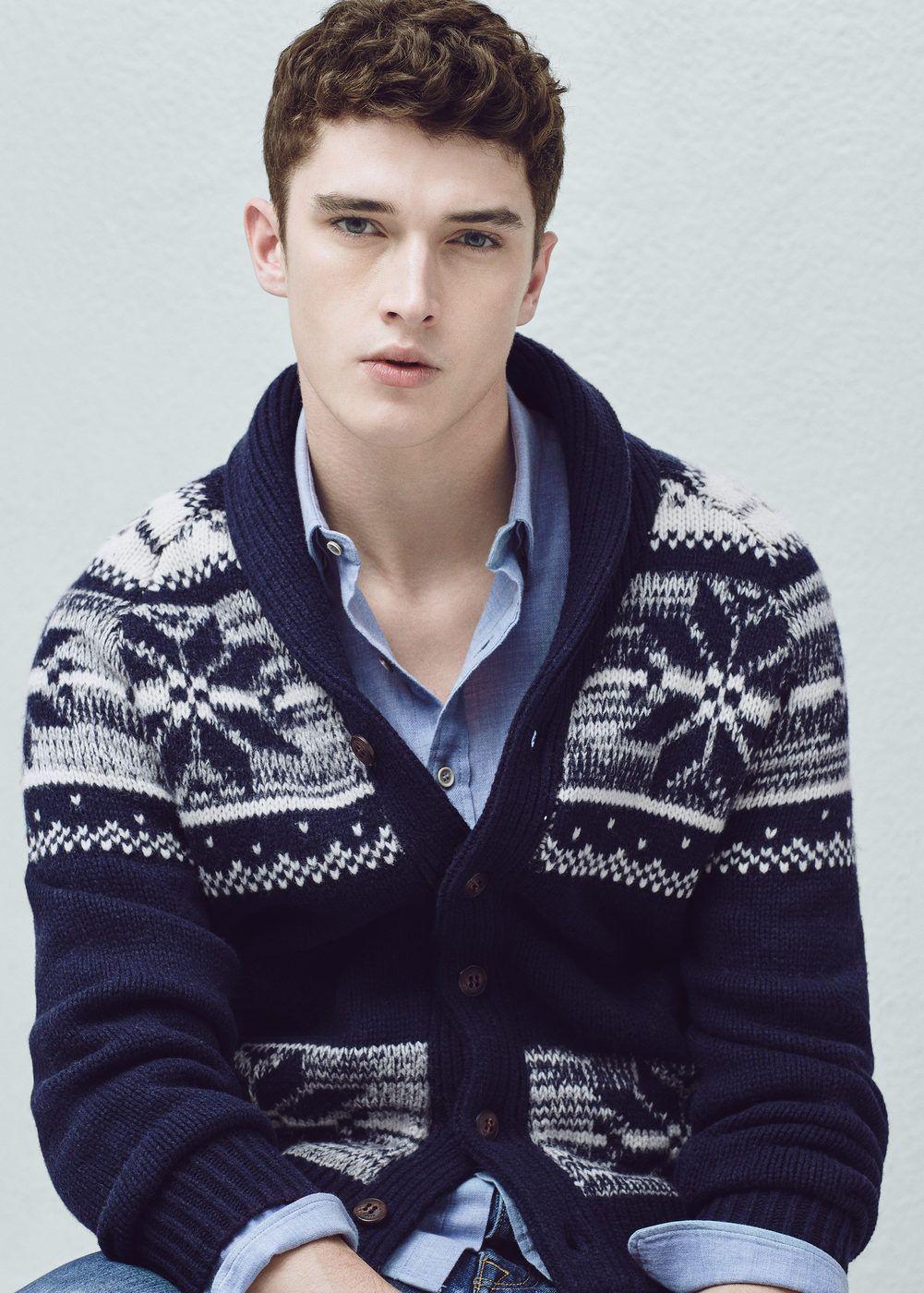 en soldes 37f2c 754bd Cardigan fair isle laine - Homme | Men's Style | Pull homme ...